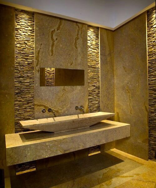 View more for Bathroom stone tiles designs